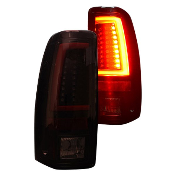 1999 2006 Chevy Silverado Gmc Sierra Red Smoked Recon Led Tail Lights