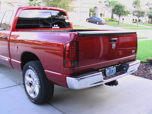 2002 2006 Dodge Ram 1500 And 2003 2500 3500 Red Smoked Recon Led Tail Lights