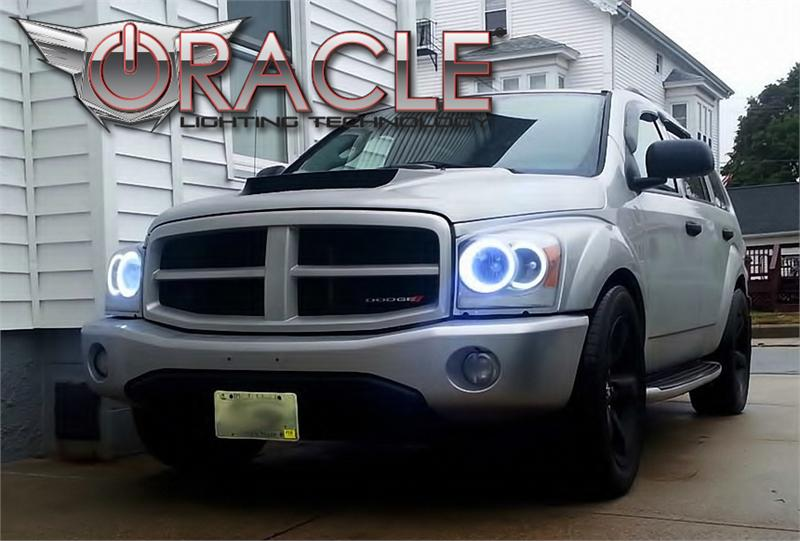 2004 2006 Dodge Durango Led Halo Kit For Headlights By Oracle