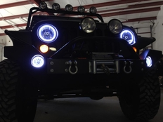 Halo Lights For Jeep Wrangler >> 2007 2016 Jeep Wrangler Plasma Fog Light Halo Kit By Oracle