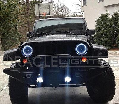 Halo Lights For Jeep Wrangler >> 2007 2017 Jeep Wrangler Led Halo Kit For Headlights By Oracle