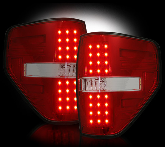 2009 2014 Ford F150 Styleside Red Recon Led Tail Lights