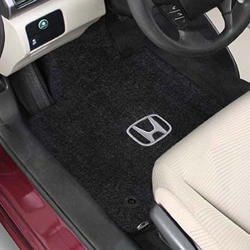 2017 Honda Fit Logo Ultimat Front And Back Seat Floor Mats Ebony By Lloyd
