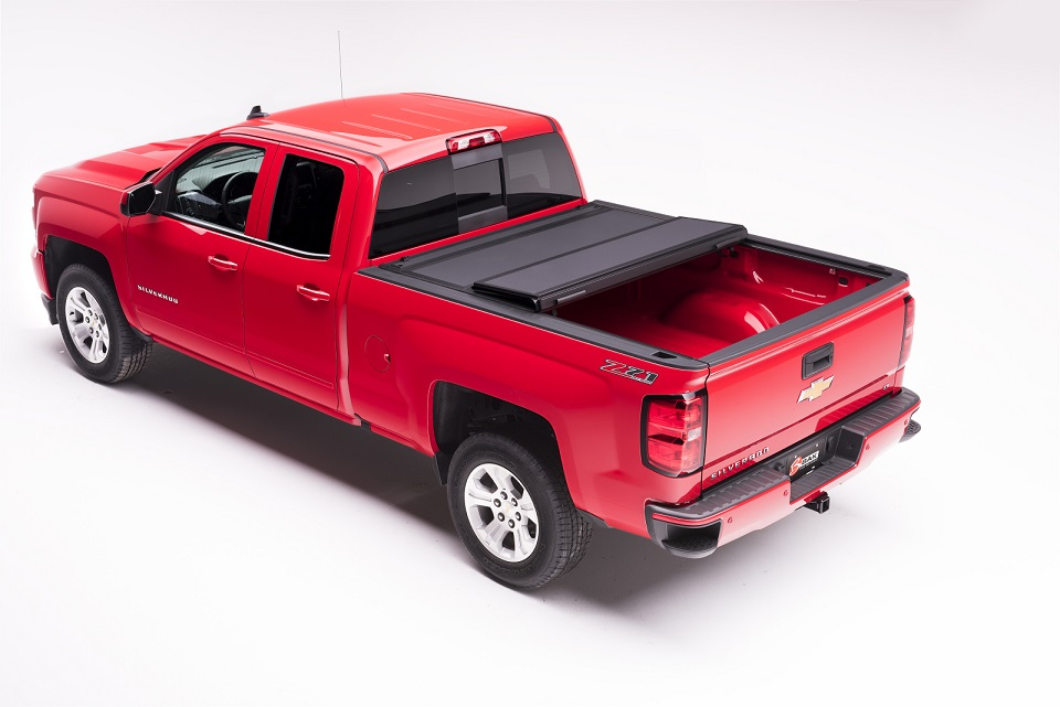 Bakflip Mx4 Hard Folding Tonneau Covers For Chevy And Gmc 2014 2018 Chevy Silverado Gmc Sierra 5 8 Bed Bakflip Mx4 Matte Black Folding Truck Bed Cover