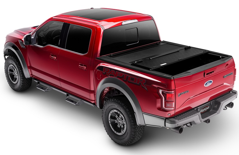 Toyota Tacoma Bed Cover >> Undercover Armor Flex Matte Black Folding Truck Bed Covers For