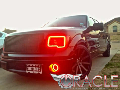 2009 2017 Ford F 150 Color Changing Led Headlight Halo Kit W 2 0 Remote By Oracle Lighting