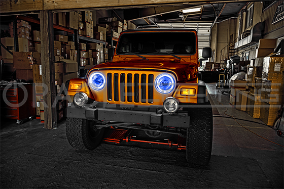 Halo Lights For Jeep Wrangler >> 1996 2017 Jeep Wrangler Waterproof Exterior Led Halo Kit For Headlights By Oracle