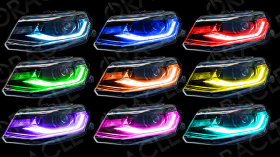 2016 2017 Chevy Camaro Color Changing Led Drl Headlight Kit W Remote By Oracle