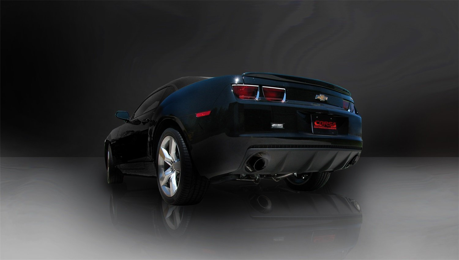 2010-2015 Chevrolet Camaro SS 6 2 V8 (Manual Trans w/OUT 1LE Performance  Package Only) Corsa Sport Cat-Back + X Pipe Exhaust BLACK