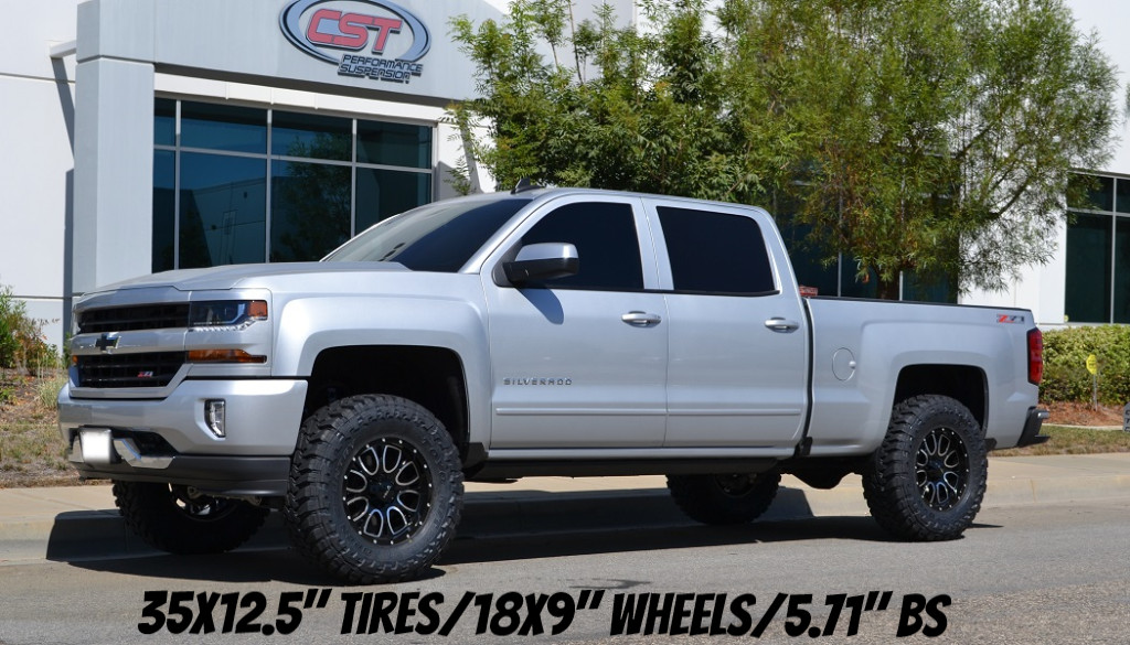 2014 Chevy Silverado Lifted >> 2014 2018 Chevy Silverado Gmc Sierra 1500 4wd Complete Lift Kit By Cst 4 5 Lift