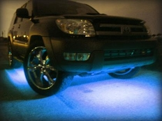 Neon Undercar Lights Attract Attention