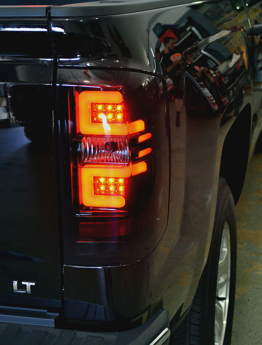 2017 Chevy Silverado 1500 Series Smoked Recon Led Tail Lights
