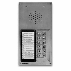 12 Button Apartment Entry Phone with Built in Door Strike Relay