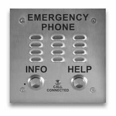 ADA Compliant Emergency Phones with Built-in Auto Dialer and Digital Announcer