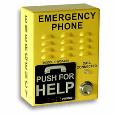 ADA Compliant, Safety Yellow, Handsfree, Emergency Phone with Dialer/Announcer