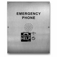 ADA Compliant, Stainless Steel, Flush mount, Handsfree, Emergency Phone with Dialer/Announcer