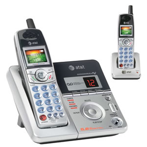 AT&T ATT-E6012 5.8GHz Dual Handset Cordless w/ Answering System