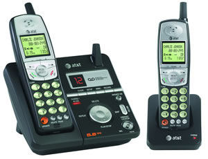ATT-E5812 5.8GHz Analog w/ 2 Handsets and Answering System