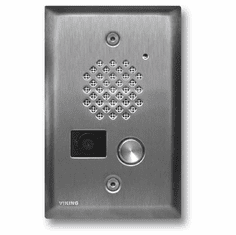 Brushed Stainless Steel Entry Phone with Color Video Camera and Enhanced Weather Protection