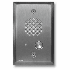 Brushed Stainless Steel Entry Phone with Enhanced Weather Protection