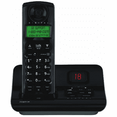 GE 21905FE1 2.4GHz Digital Expandable w/ Answering System - Black