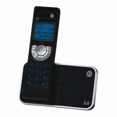 GE 28115FE1 DECT 6.0 Expandable Cordless w/ Caller ID Black