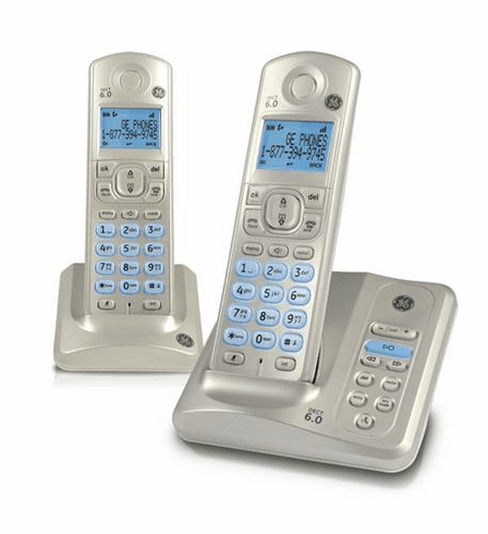 GE-28522AE2 Dual handset cordless phone with digital- Silver