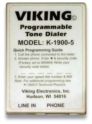 Hot-Line Touch Tone Dialer