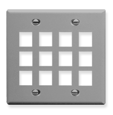 ICC IC107F12GY Face Plates Flat Panel Faceplates
