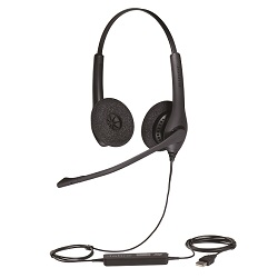 Jabra BIZ 1500 Duo USB Headset with Noise-Cancelling Microphone