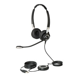 Jabra BIZ 2400 II Duo USB Contact Center Headset with Noise-Cancelling Microphone for Microsoft Lync