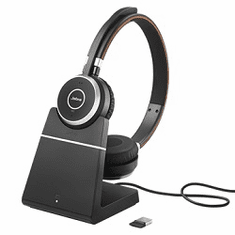 Jabra Evolve 65 Duo UC Headset with Charging Stand