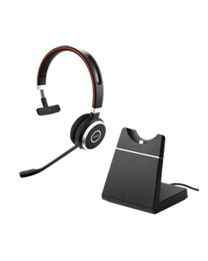 Jabra Evolve 65 Wireless Bluetooth Headset with Charging Stand