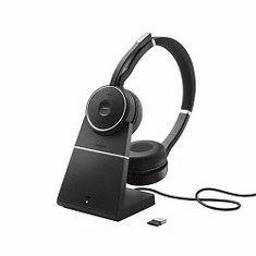 Jabra Evolve 75 Wireless Bluetooth Duo Headset UC with Active Noise Cancelling and Charging Stand