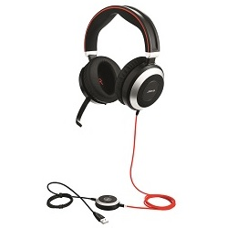Jabra Evolve 80 Duo Headset with Active Noise Cancelling