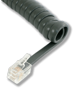 L-H4DU-CG-06 6ft Charcoal Gray Replacement Handset Coil Cord