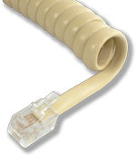 L-H4DU-IV-06 6ft Ivory Replacement Handset Coil Cord