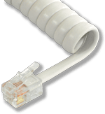 L-H4DU-WH-06 6ft White Replacement Handset Coil Cord