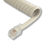 L-H4DU-WW-25 25ft Warm White Replacement Handset Coil Cord