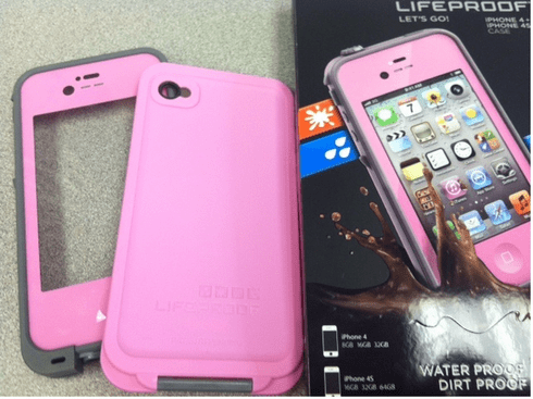 LifeProof Case for Iphone 4/4S in pink at Discount Price