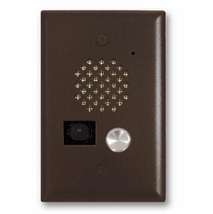 Oil Rubbed Bronze Entry Phone with Color Video Camera and Enhanced Weather Protection