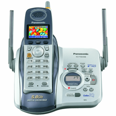 Panasonic KX-TG5456S 5.8 GHz Digital Cordless Answering System with 1.4 Full Color LCD,Panasonic KX-TG5456S 5.8 GHz Digital Cordless Answering System with 1.4 Full Color LCD