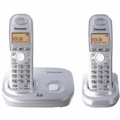 Panasonic KX-TG6312S DECT 6.0 Expandable Cordless System with 2 Handsets