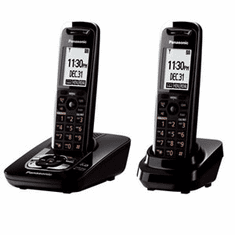 Panasonic KX-TG7432B DECT 6.0 Expandable Cordless Phone with Answering System with 2 Handsets