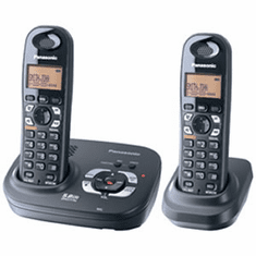 Panasonic KX-TG9332T DECT 6.0 Expandable Cordless System with 2 Handsets