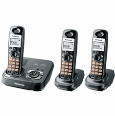 Panasonic KX-TG9333T DECT 6.0 Expandable System with 3 Handsets