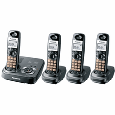 Panasonic KX-TG9334T DECT 6.0 Expandable System with 4 Handsets