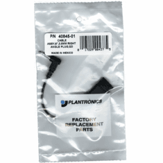 Plantronics 40845-01 Cable 3.5mm Right Angle to Quick Disconnect Plug