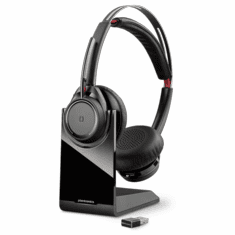 Plantronics B825-M Voyager Focus UC Duo Bluetooth Headset with Active Noise Cancelling for Microsoft Lync