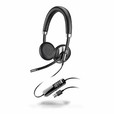 Plantronics Blackwire 725 Duo USB Headset with Active Noise Cancelling for Microsoft Lync